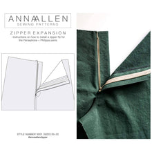 Load image into Gallery viewer, Zipper Expansion - PDF Sewing Instructions