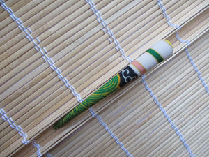 Statement Kimono Fabric Long Hair Slide