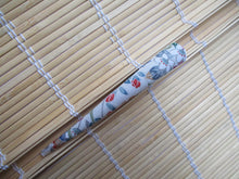 Load image into Gallery viewer, Elegant Recycled Vintage Kimono Fabric Covered 130mm Clip