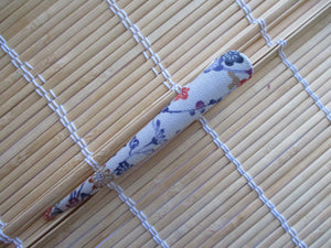 Simple Recycled Kimono Long Hair Clip, Eco Friendly Gift