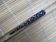 Load image into Gallery viewer, Blue Kimono Clip, Minimalist Simple Metal Long Hair Clip