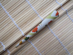 Long Kimono Hair Clip, Vintage Silk Fabric Japanese Accessory