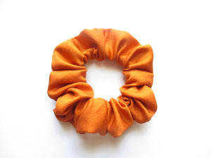 Burnt Orange Simple Solid Silk Kimono Vintage Fabric Scrunchies