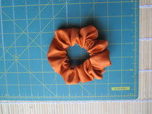 Load image into Gallery viewer, Burnt Orange Simple Solid Silk Kimono Vintage Fabric Scrunchies