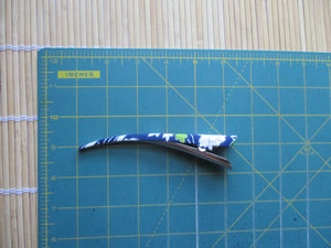 Minimalist 130mm Long Fabric Metal Hair Clip, Navy Blue