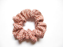 Load image into Gallery viewer, Wabi-Sabi Pink Shibori Vintage Silk Kimono Scrunchie