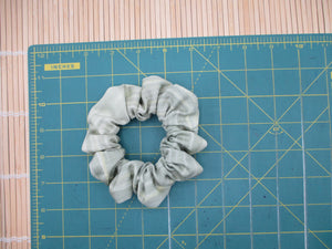 Simple Kimono Scrunchies, Silk Fabric Hair Tie Colorful Flowers