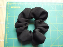 Load image into Gallery viewer, Solid Black Silk Kimono Scrunchies