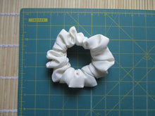 Load image into Gallery viewer, Ivory White Silk Kimono Scrunchie