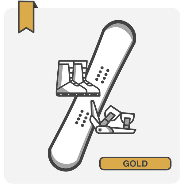 GOLD Snowboard Package
