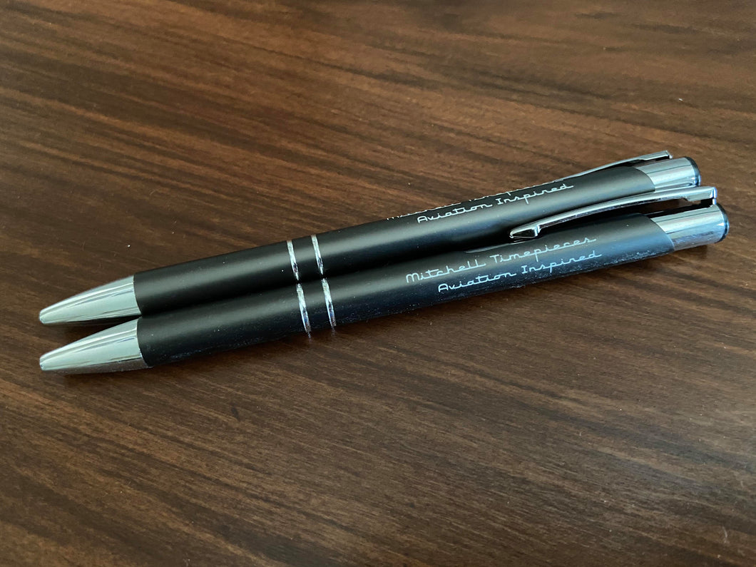 Logo Pen laser engraved.