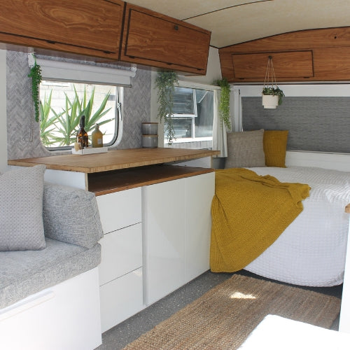 How to: Hack Your Caravan With Self-Adhesive Tiles