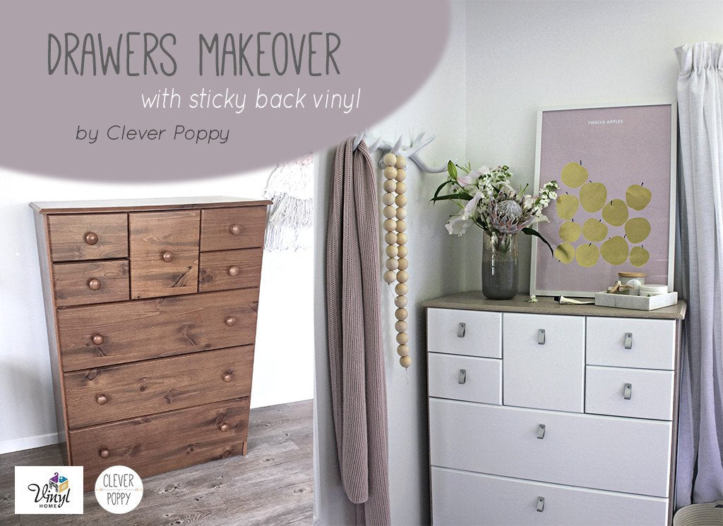Drawer Makeover by Clever Poppy