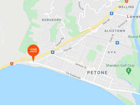 map of Home Ideas Centre in Wellington