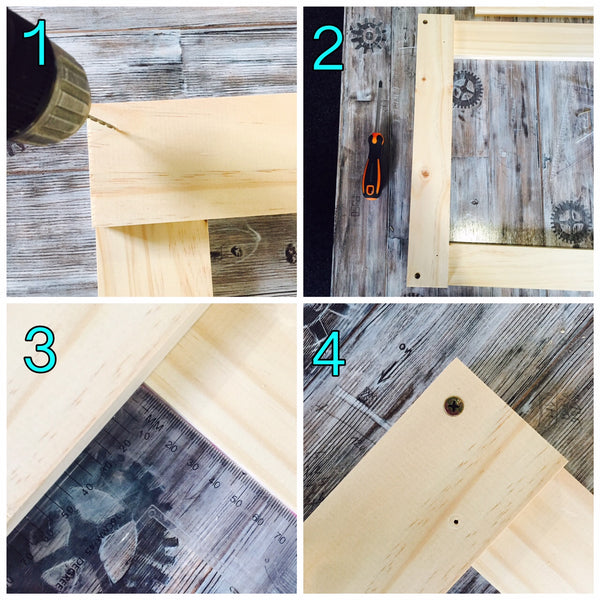 Instructions 1-4 to make a trestle table