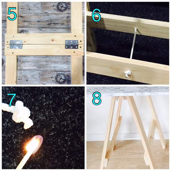 trestle table assembly instructions 5-8