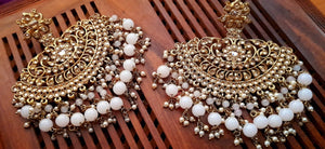 Sitaara heavy jhallar earrings