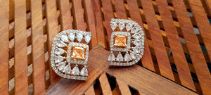 D Shaped American Diamond Studs