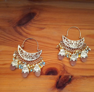 Gold plated patra earrings