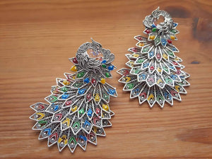 Oxidized Multi color Earrings