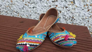 Adorable Multi- Color Boho style Khussey/Jutti/Ballerinas