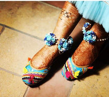 Load image into Gallery viewer, Adorable Multi- Color Boho style Khussey/Jutti/Ballerinas