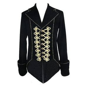 Men's Single Breasted Tailcoat Damask Gothic Steampunk Retro Jacket