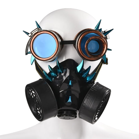 Steam Punk Retro Rivets Mask with Goggles