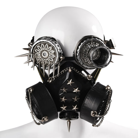 Vintage Rivet Punk Mask Spikes Goggles