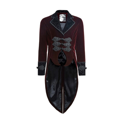 Steampunk Men's Flannel Scissors Tail Coat Gothic Coats
