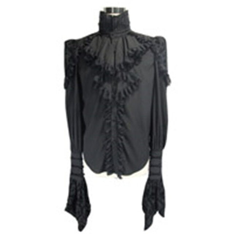 Steampunk Gothic Men Lace Blouses