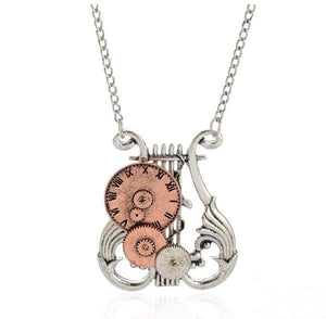 Musical Instrument Tianqin Alloy Pendant Necklace