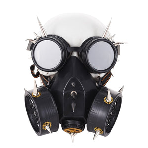Steam Punk Masks Punk Metal Rivet Respirator Goggles