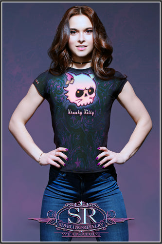 KRANKY KITTY ~ Women's Athletic T-shirt - SIB.BLING RIVALRY