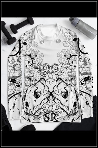 WILDCAT INK ~ Tattoo cat skull Rash Guard - SIB.BLING RIVALRY