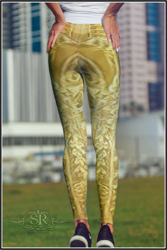 ALIEN GOLD ~ Yoga Leggings - SIB.BLING RIVALRY