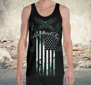 Proud And Free~ Tank top shirt. American flag - SIB.BLING RIVALRY