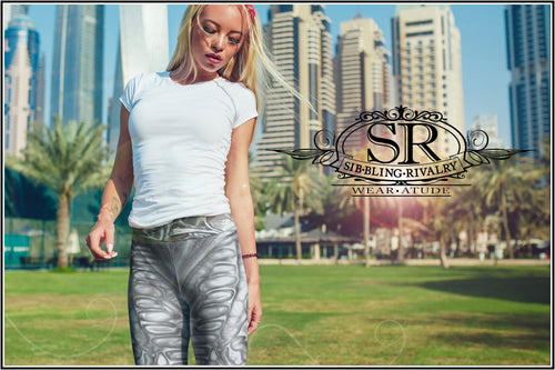 ALIEN GRUNGE ~ Yoga Leggings - SIB.BLING RIVALRY