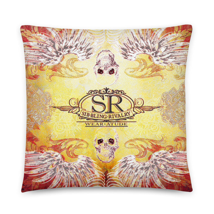 SILVER WINGS ~ LG Throw Pillow - SIB.BLING RIVALRY