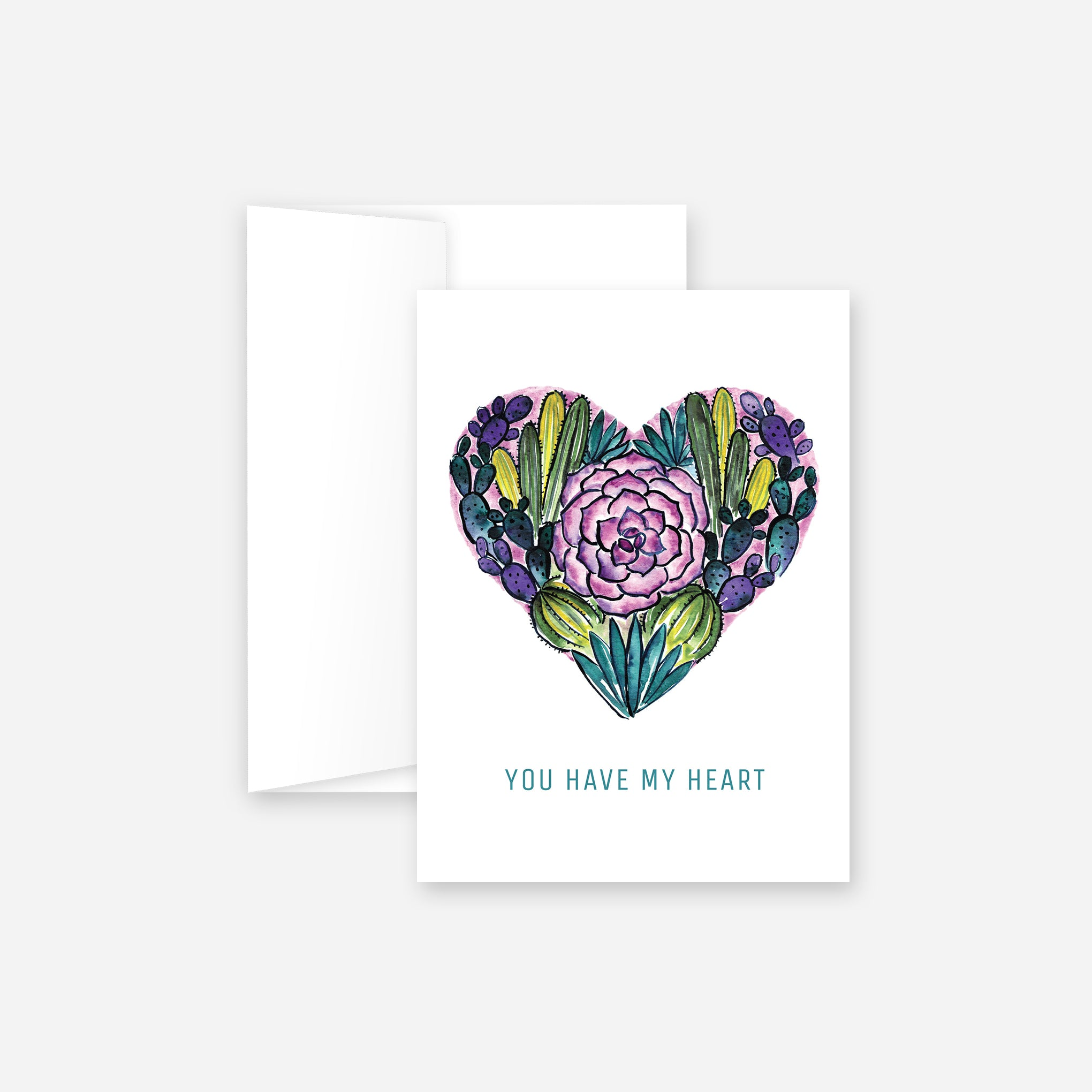 Desert Heart Greeting Card