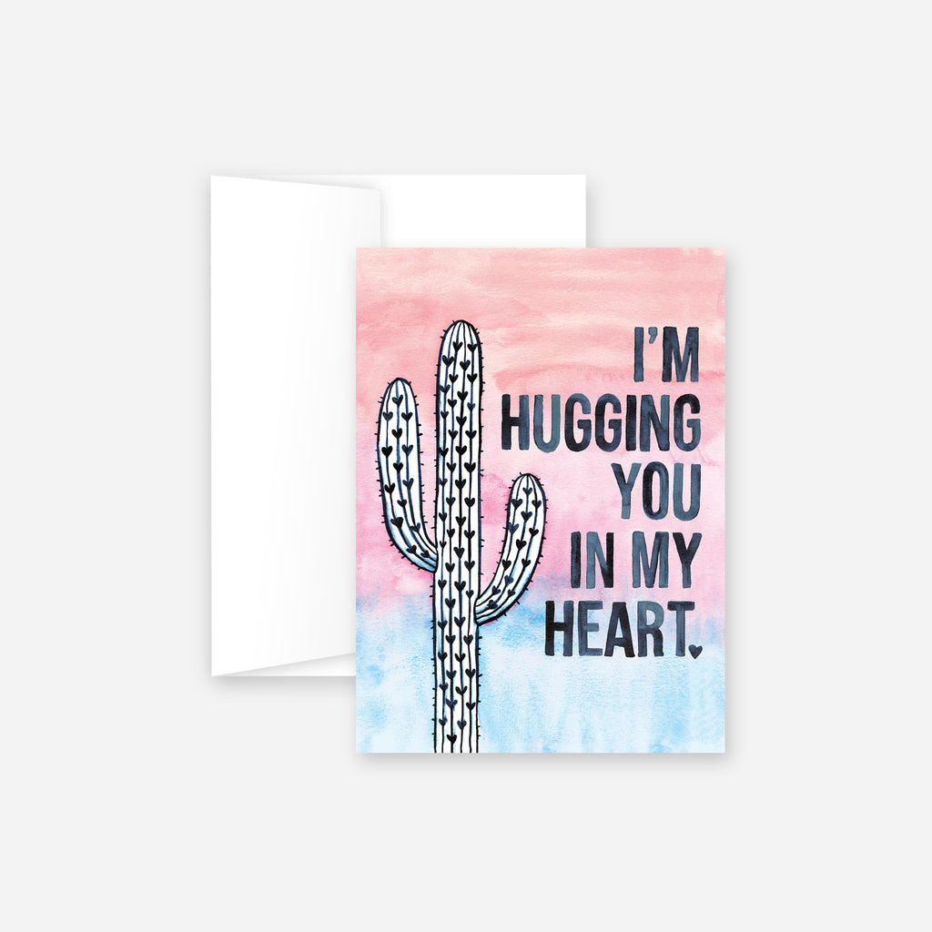 Hug You In My Heart Greeting Card