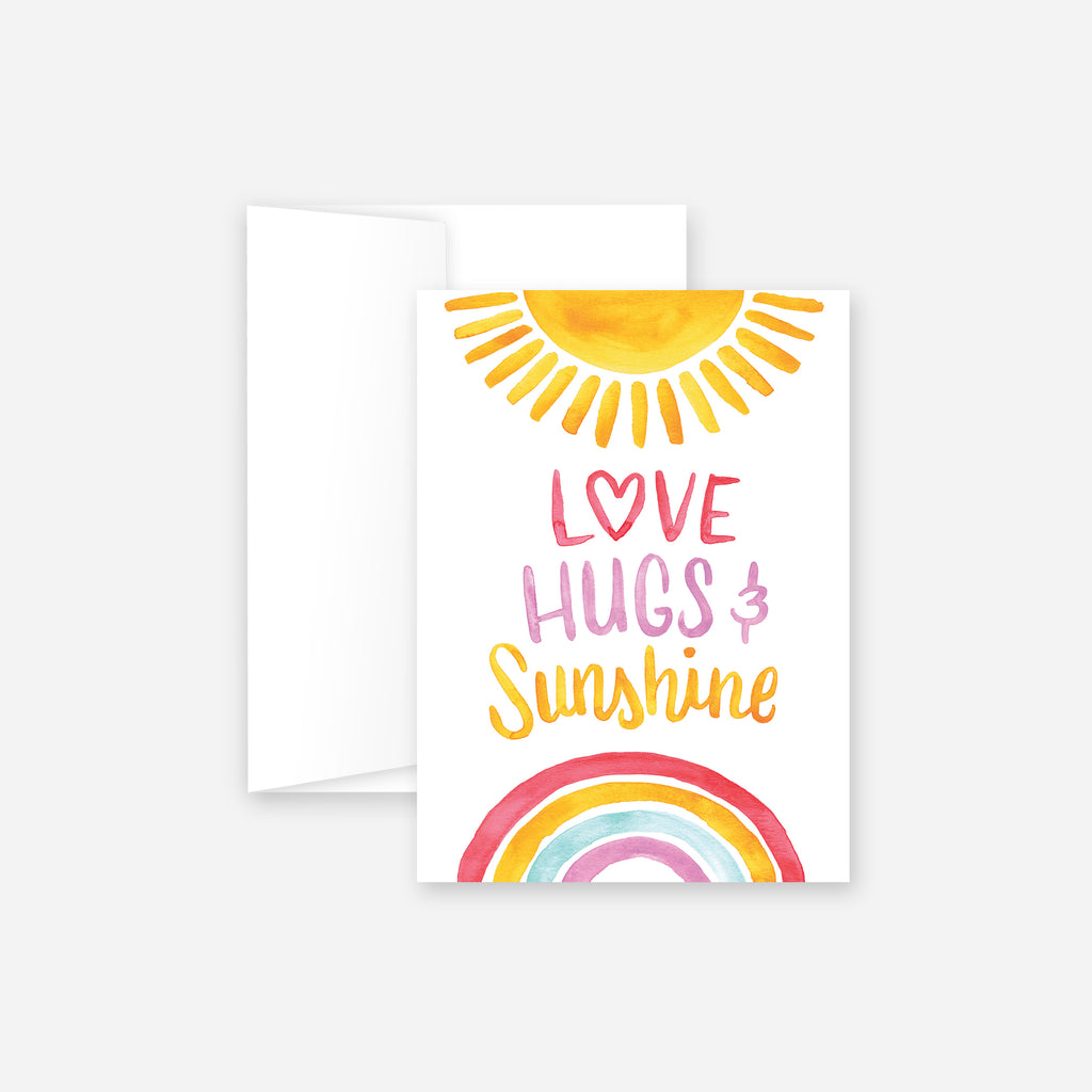 Love Hugs & Sunshine Greeting Card