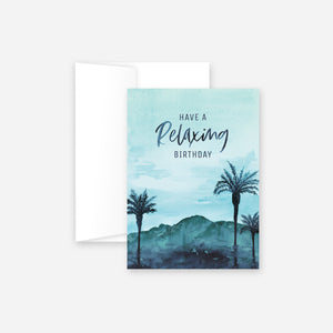 Relaxing Birthday Greeting Card