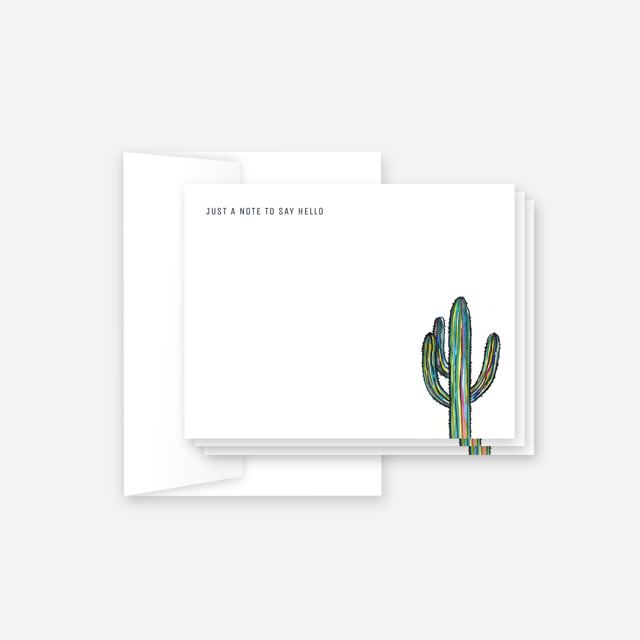Rainbow Saguaro Social Stationery Set
