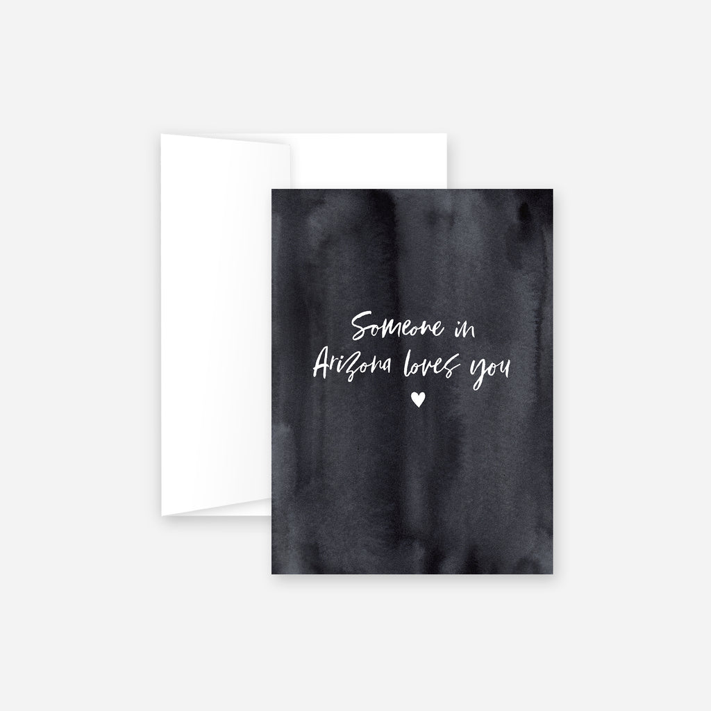 Someone In Arizona Loves You Greeting Card – Dark