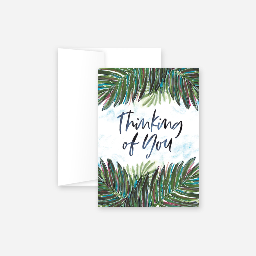 Thinking of You Palms Greeting Card