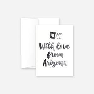 With Love From Arizona Greeting Card