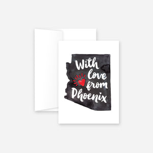 With Love From Phoenix Greeting Card