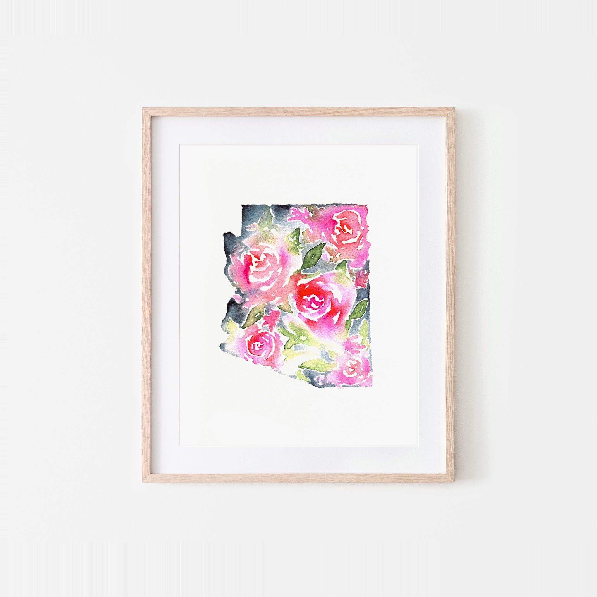 Arizona Soft Roses Watercolor Art Print