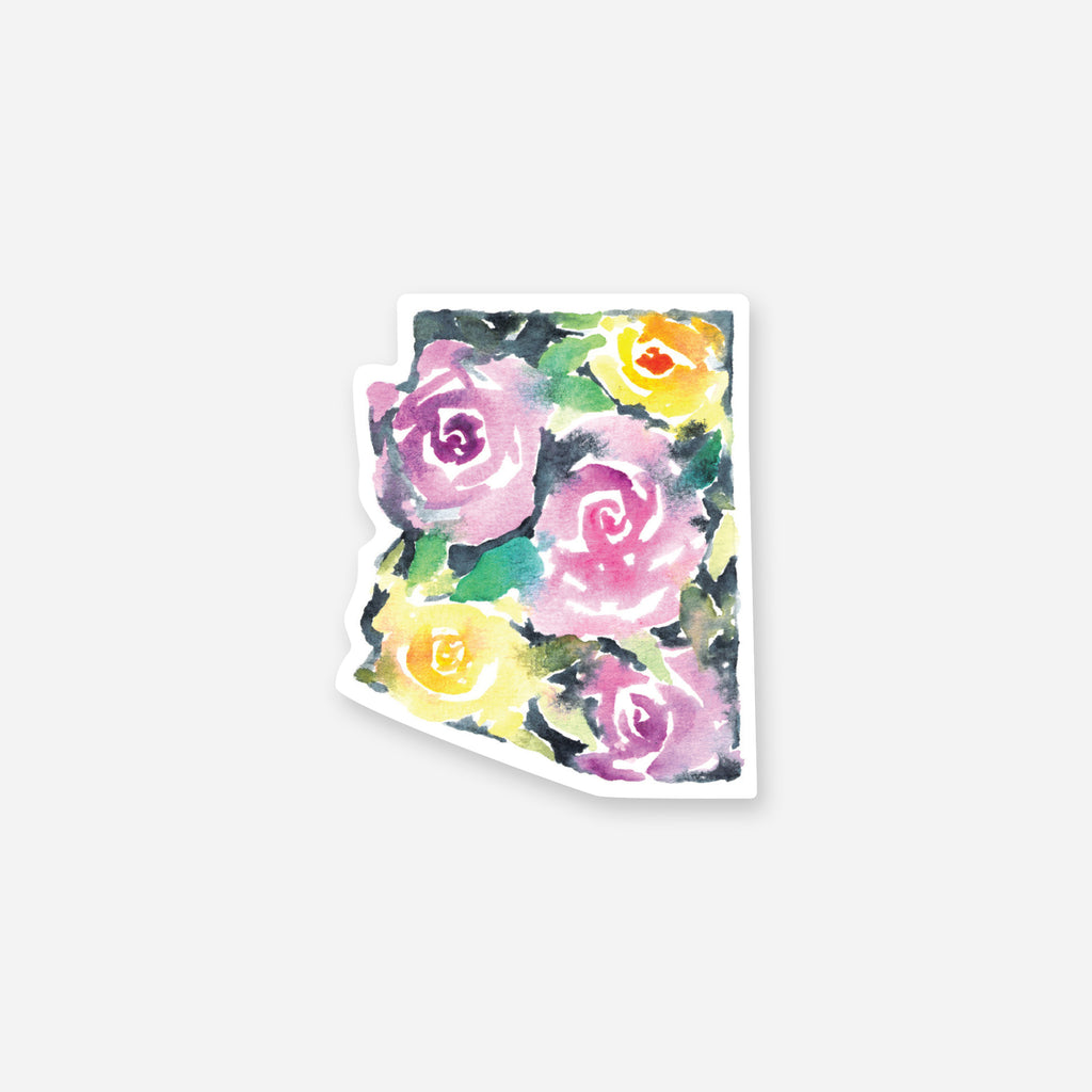 Arizona Bold Roses Vinyl Sticker